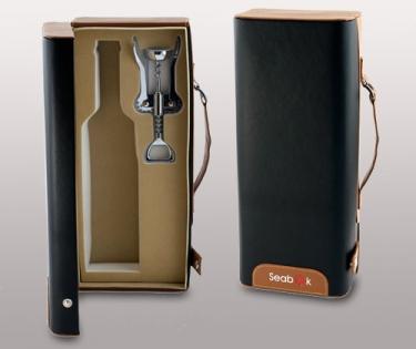 Подарочный набор футляр для бутылки со штопором