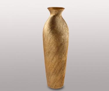 Ваза керамическая Go Style высокая золото