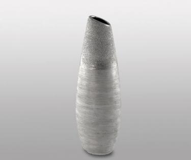 Ваза керамическая Go Style срез под серебро