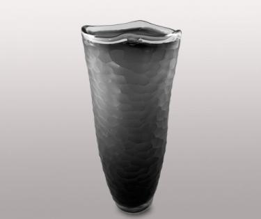 Ваза стеклянная Dream Color черного цвета с выпуклостями