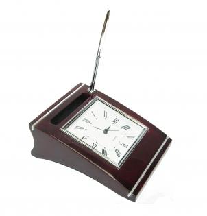 Набор часы настольные с ручкой