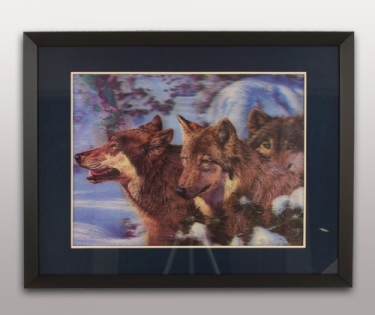 Картина объемная Волки