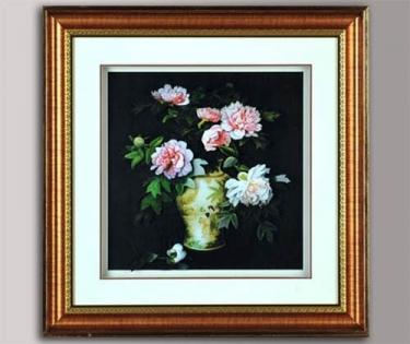 Панно декоративное Пионы в вазе