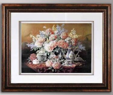 Панно декоративное цветы на обеденном столе