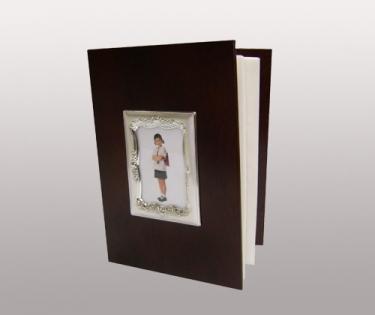 Фотоальбом отделка посеребрение искусственная кожа