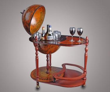 Глобус бар напольный со столиком JuFeng 91 см