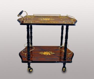 Столик прямоугольный сервировочный на колесиках