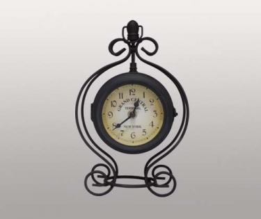 Часы настольные в металлическом корпусе New York