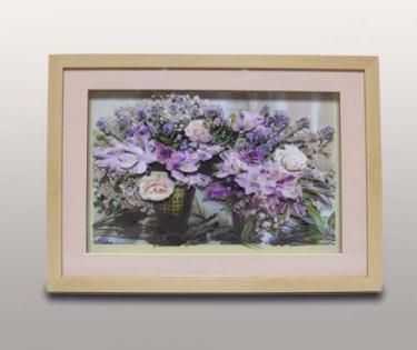 Панно декоративное цветы в вазе
