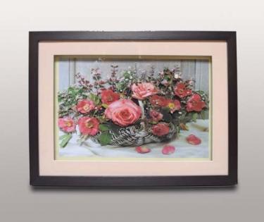 Панно декоративное цветы в корзине