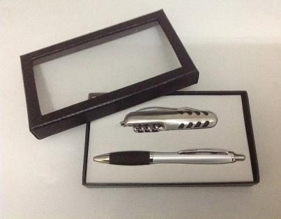 Набор подарочный нож и шариковая ручка