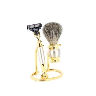 Бритвенный набор S.Quire золотисто серебристый