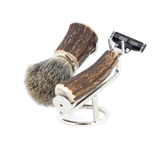 Бритвенный набор S.Quire никелированное покрытие и рог оленя