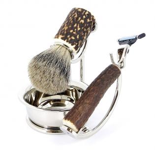 Бритвенный набор S.Quire коричневый рукоять рог оленя