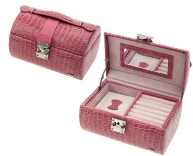 Шкатулка для украшений Jardin D'Ete в виде сундучка розовая