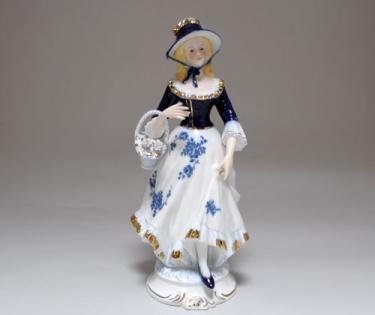 Статуэтка декоративная дама в шляпке