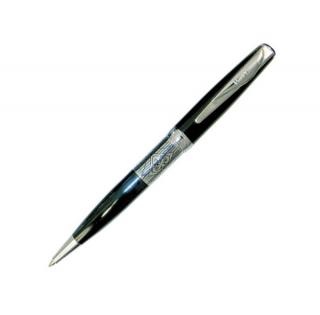 Шариковая ручка Pierre Cardin Secret цвет черный сталь хром