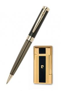 Набор зажигалка и ручка Pierre Cardin лак позолота