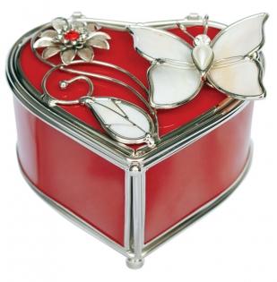 Шкатулка в форме сердца JARDIN D'ETE Красный глянец
