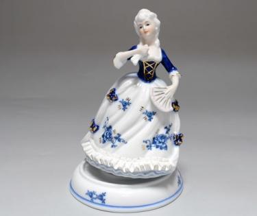 Статуэтка музыкальная дама с веером