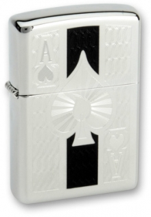 Зажигалка Zippo Ace High Polish Chrome