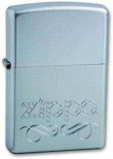 Зажигалка Zippo Scroll Satin Chrome