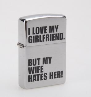 Зажигалка Zippo I love my girlfriend...