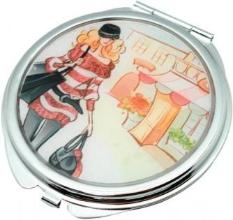 Зеркало косметическое  JARDIN D'ETE дама с сумкой