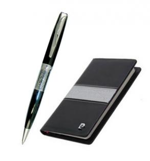 Набор записная книжка и ручка Pierre Cardin латунь искусственная кожа