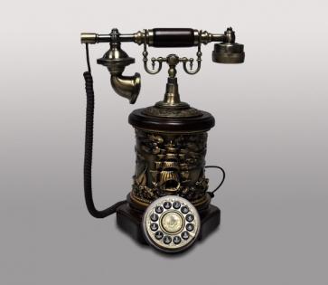 Ретро телефон кнопочный из полистоуна