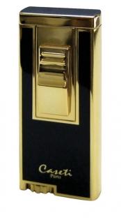 Зажигалка Caseti сплав цинка золото черный