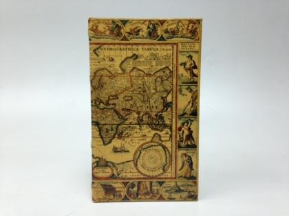 Шкатулка фолиант старинная карта мира