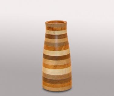 Ваза деревянная Mango разноцветная радуга