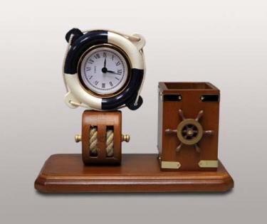 Набор в морском стиле с часами спасательный круг