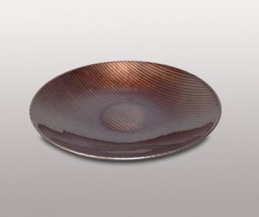 Тарелка керамическая цвет бронза