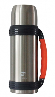 Термос Stinger 1 л серебристо-оранжевый