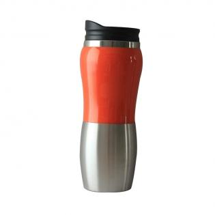 Термокружка Stinger серебристо-оранжевая