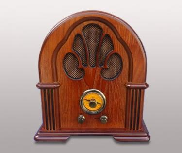 Радио в старинном стиле цвет дуба