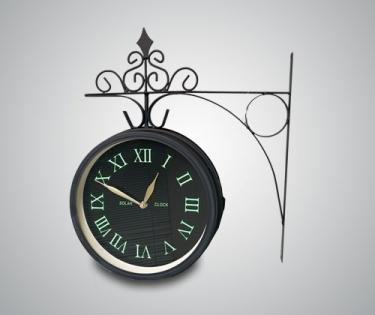 Часы на кронштейне с термометром