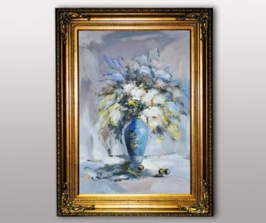 Картина Цветы в синей вазе