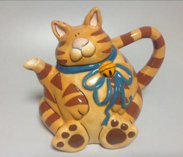 Чайник Рыжий кот