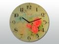 Часы настенные Красная роза