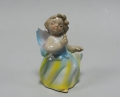 Статуэтка Ангелочек в желтом и голубом