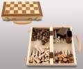 Набор игр шахматы шашки нарды в деревянном кейсе