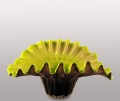 Ваза стеклянная Dream Color желтая внутренность