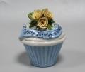 Бонбоньерка вазочка для конфет голубого цвета