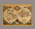 Карта мира музейная копия 18 века