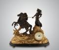 Часы каминные Афина черный мрамор