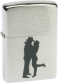 Зажигалка Zippo Cowboy Couple Brushed Chrome