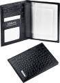 Бумажник для водителя S.Quire черная тисненая кожа